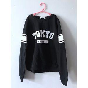 H&M | Black Crew Neck Tokyo Pullover